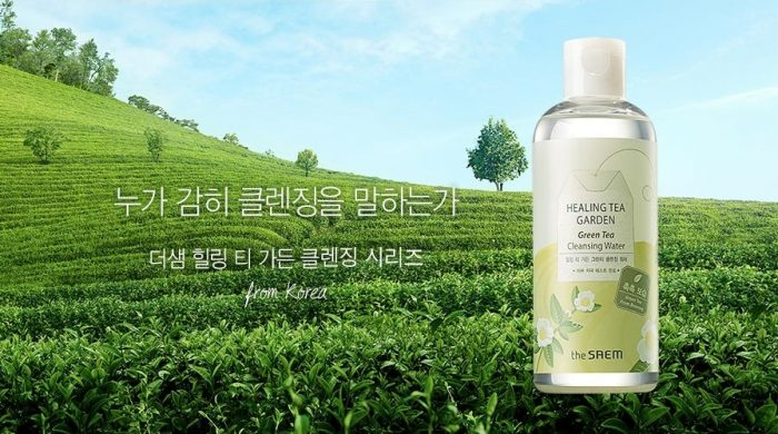 Nước tẩy trang The Saem Healing Tea Garden Green Tea Cleansing