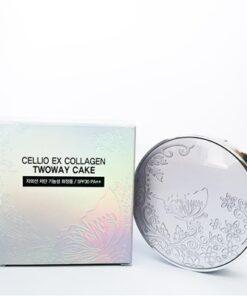 Phấn phủ Cellio Ex Collagen twoway cake SPF30