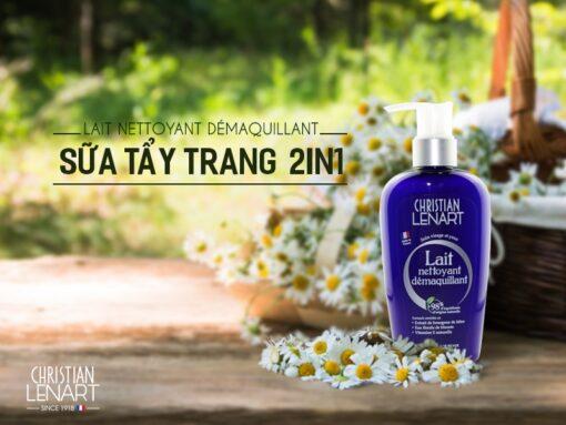 Sữa Tẩy Trang 2 in 1 Lait Nettoyant Christian Lenart