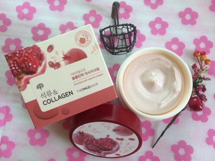 Kem CollagenLựu The Face Shop Pomegranate And Collagen Volume Lifting Cream