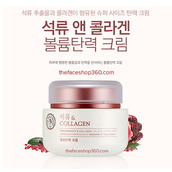Kem Collagen Lựu The Face Shop Pomegranate And Collagen Volume Lifting Cream