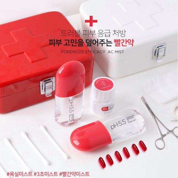 Nước Hoa Hồng Dạng Viên Sủi Forencos PH 5.5 Efficacy Toner Mist