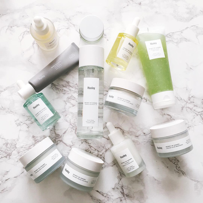 Bộ Dưỡng Da Huxley - Hydration Care Set Toner Extract It, Essecen Grap Water, Cream Fresh and More