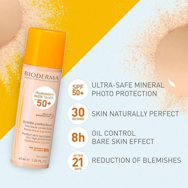 Kem chống nắng Bioderma Photoderm Nude Touch SPF 50+ cho da dầu