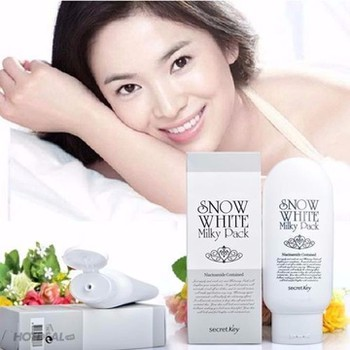 Kem Tắm trắng Snow White Milky Pack Secret Key Face & Body