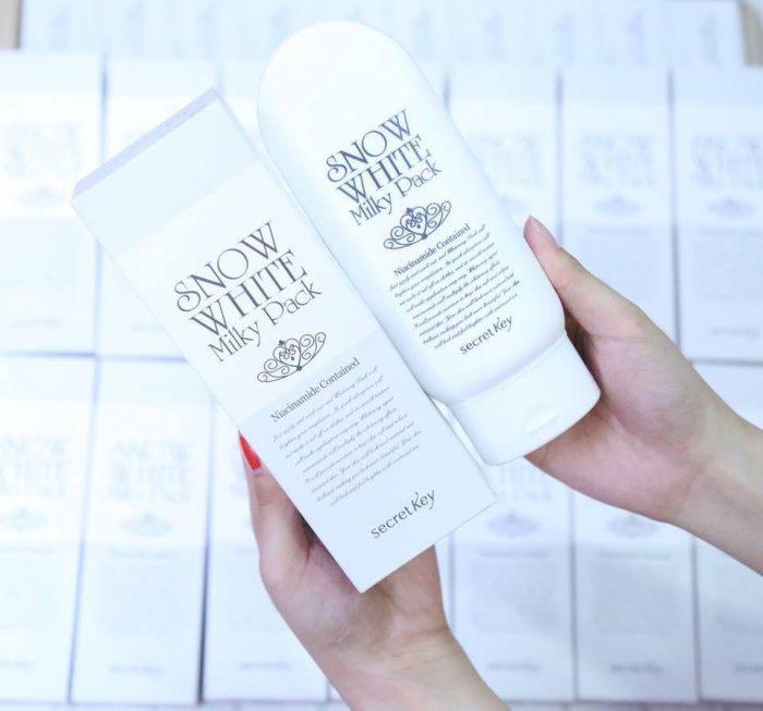 Kem Tắm trắng Snow White Milky Pack Secret Key Face & Body width=