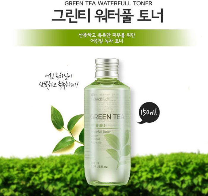 Nước hoa hồng The Face Shop Green Tea Waterfull Toner