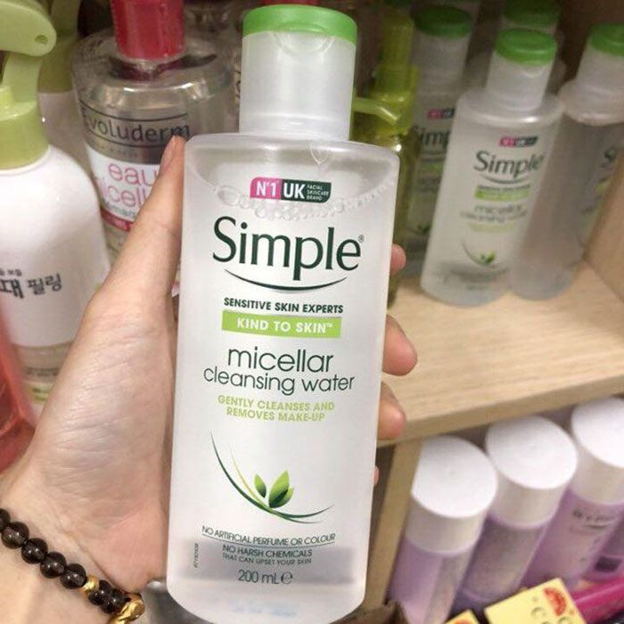 Nước Tẩy Trang Simple Kind To Skin Micellar Cleansing Water】