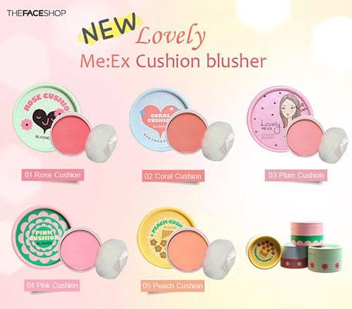 Phấn má hồng Lovely Meex Cushion Blusher The Face Shop