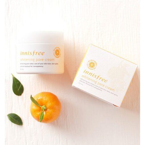 Kem-duong-trang-da-innisfree-whitening-pore-cream-7