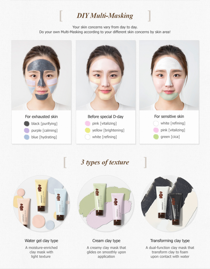 Mặt Nạ Innisfree Jeju Volcanic Color Clay Mask width=