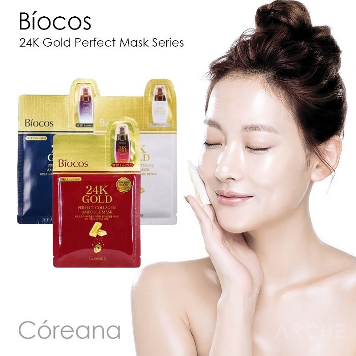 Mặt Nạ Vàng Biocos 24k Gold Perfect Ampoule & Mask
