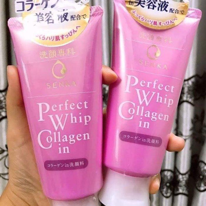 Sữa Rửa Mặt Chống Lão Hóa Shiseido Senka Perfect Whip Collagen In