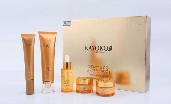 Bộ Mỹ Phẩm Kayoko Màu Vàng Trị Nám Tàn Nhang 5in1