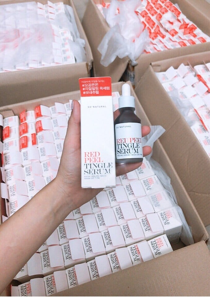 Thay da Sinh Học Red Peel Tingle Serum By Sonatural