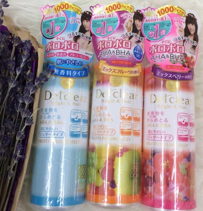 Tẩy Tế Bào Chết Meishoku Detclear Bright & Peel Fruits Peeling Jelly