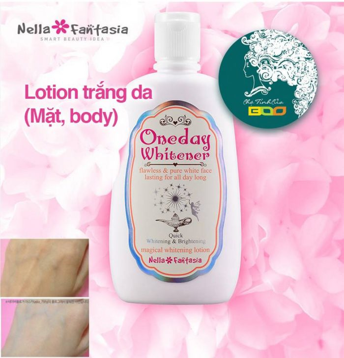 Sữa dưỡng trắng Nella Fantasia Oneday Whitener Magical Whitening Lotion