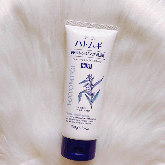 Sữa rửa mặt Hatomugi Naturie The W Cleansing Foam