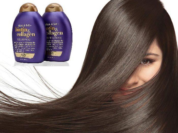 Bộ dầu gội - xả kích thích mọc tóc Biotin & Collagen 385ml của Mỹ