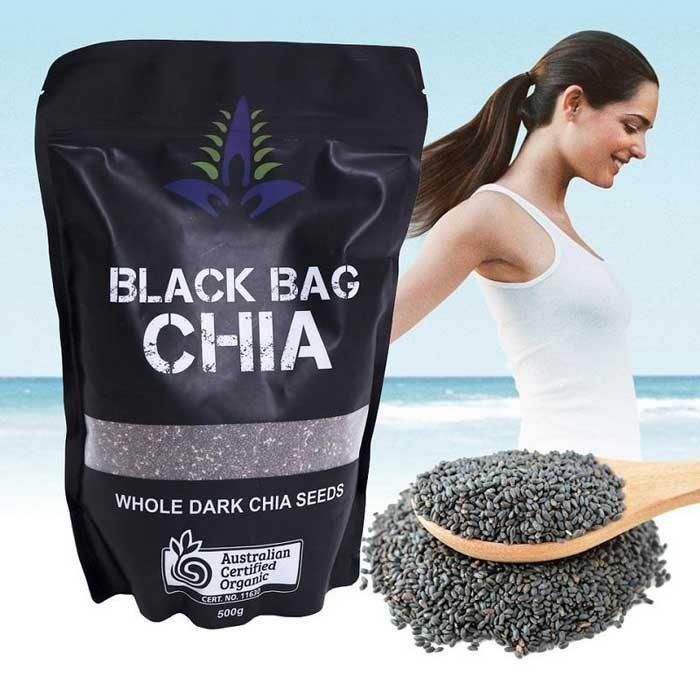 Hạt chia Úc Black Bag CHIA whole Dark Chia Seeds