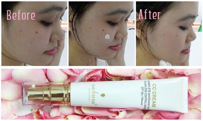 Kem trang điểm Sakura CC Cream Flawless Control Base SPF50