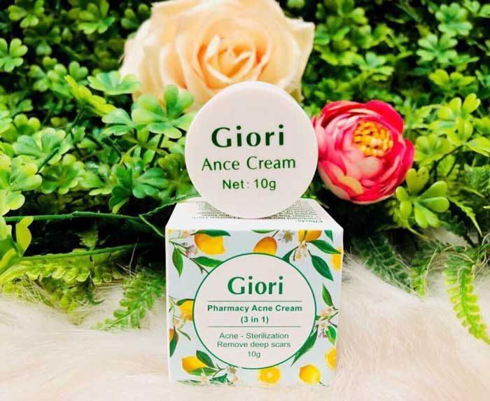 Kem trị mụn Giori Pharmacy Acne Cream (3 in 1)