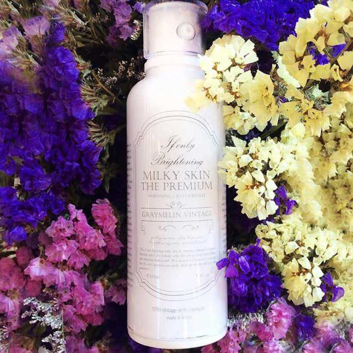 Kem Dưỡng Trắng Da milky skin the premium whitening anti wrinkle graymelin vintage