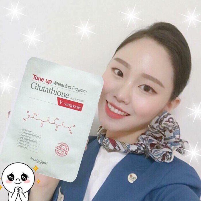 Mặt Nạ Tone Up Whitening Program Glutathione V-Ampoule