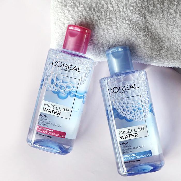 Nước Tẩy Trang L'Oreal Paris 3-In-1 Micellar Water 250ml】
