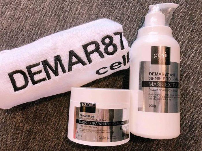 Ủ Trắng Mặt Nhau Thai Cừu Demar87 Cell Genie Profressional Mask Extra Whitening Facial