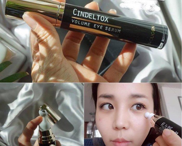 Thanh lăn mắt Cindel Tox Volume Eye Serum