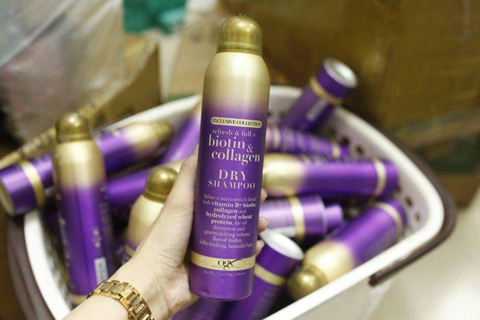 Dầu gội khô OGX Exclusive Collection Biotin & Collagen Dry Shampoo