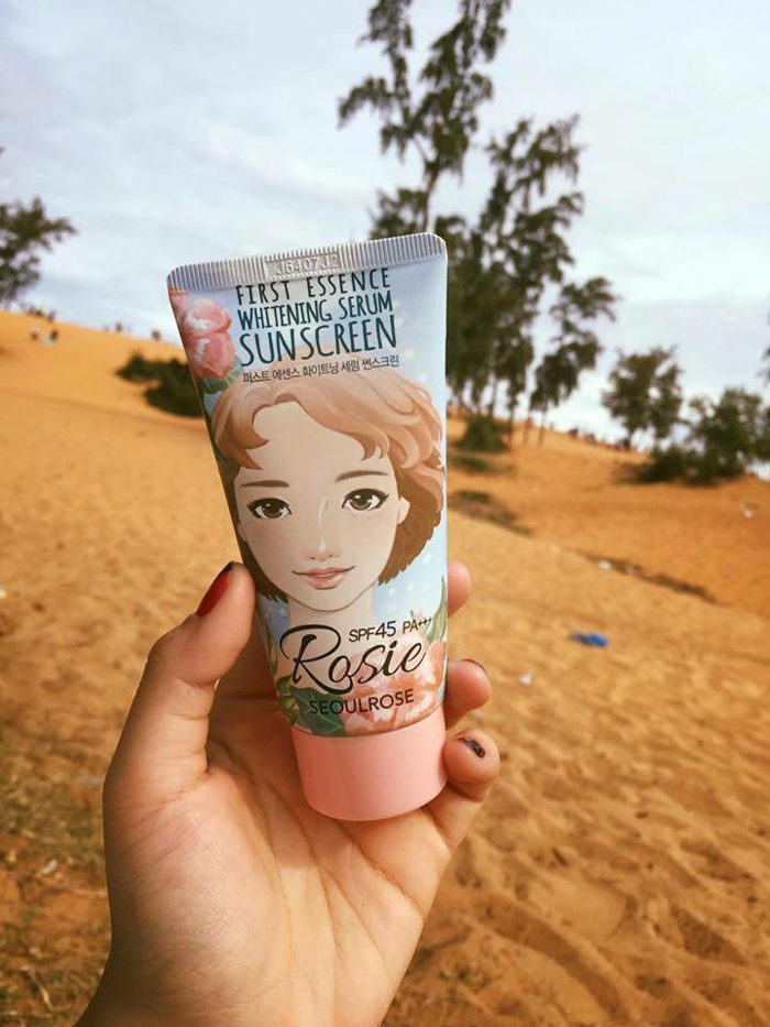 Kem chống nắng Seoul Rose Rosie First Essence Whitening Serum Sunscreen