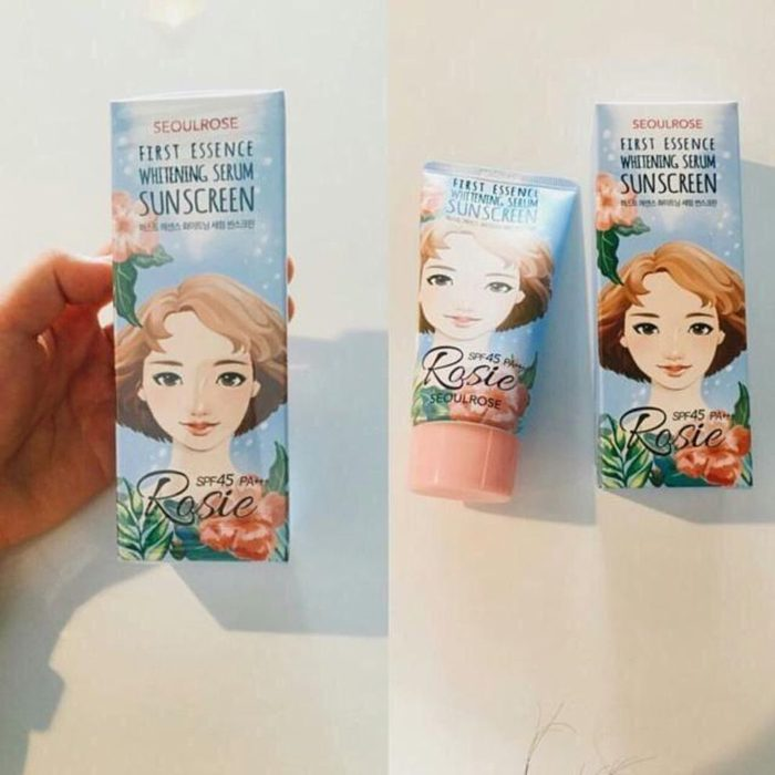 Kem chống nắng Seoul Rose Rosie First Essence Whitening Serum Sunscreen