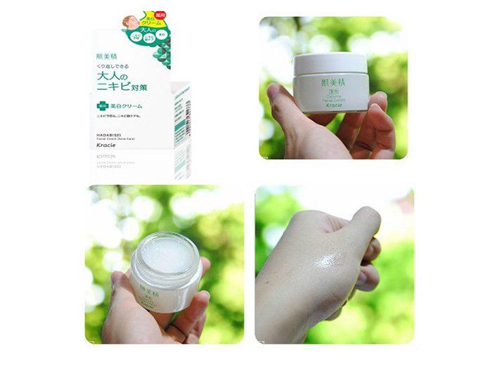 Kem dưỡng Kracie Hadabisei Acne Care Facial Cream