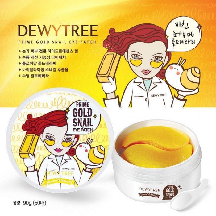 Mặt Nạ Mắt DewyTree Prime Gold Snail Eye Patch