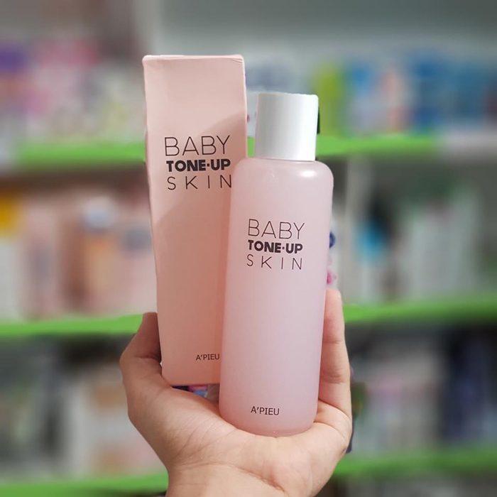 Nước Hoa Hồng A'Pieu Baby Tone-Up Skin