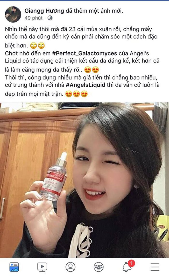 Tinh chất Angel's Liquid Perfect Galactomyces 14 Days Treatment Essence