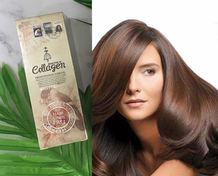 Serum dưỡng tóc mefaso biotin collagen professional hair oil