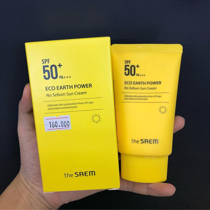 Kem Chống Nắng The Saem Eco Earth Power No Sebum Sun Cream SPF 50+ PA++++