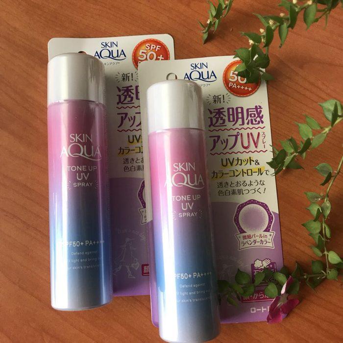 Xịt Chống Nắng Skin Aqua Tone Up UV Spay SPF 50+ PA+++