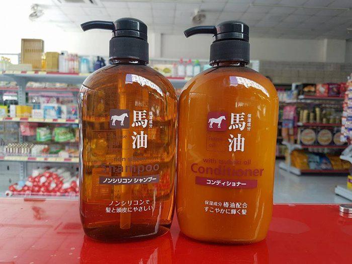 Dầu gội Kumano Horse oil non Silicon