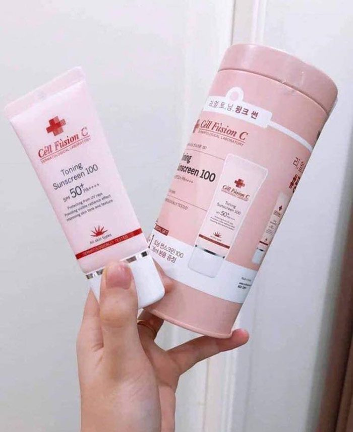 Kem chống nắng Cell Fusion C Toning Sunscreen 100 SPF50+PA++++