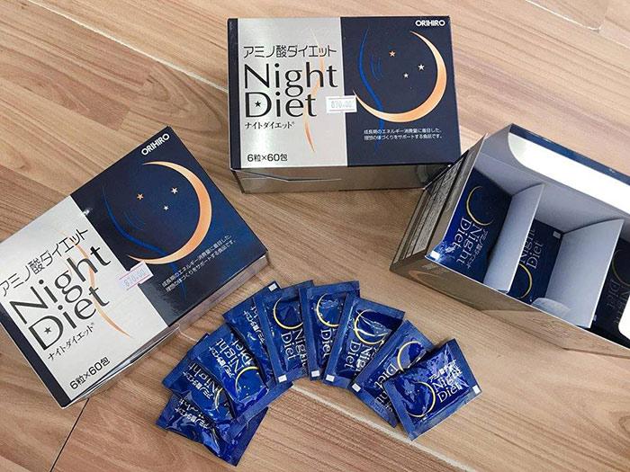 Review Viên uống giảm cân Night Diet Orihiro có tốt không giá bao nhiêu】