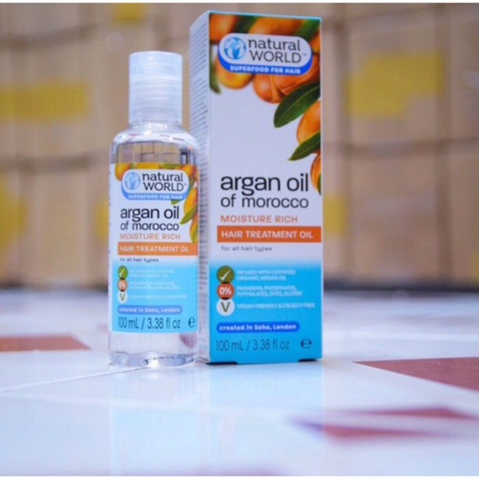 Dầu Dưỡng Tóc Natural World Argan Oil of Morocco Hair Treatment Oil
