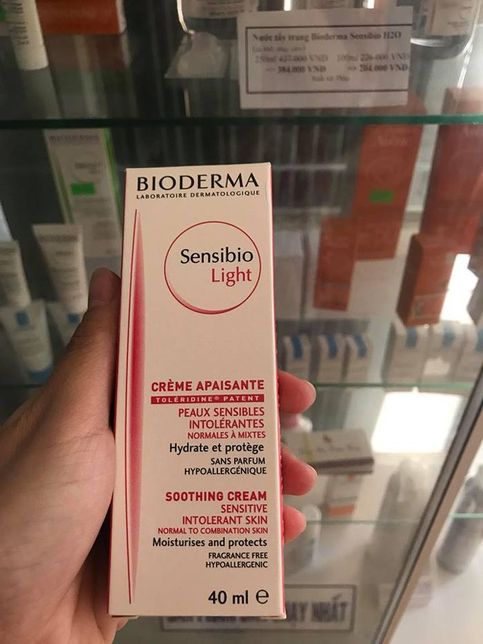 Kem Dưỡng Bioderma Sensibio Light Soothing Cream Sensitive Intolerant Skin