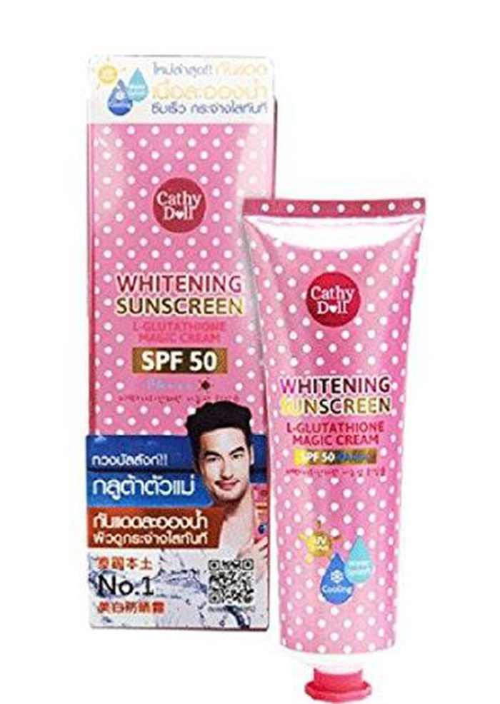Kem Chống Nắng Cathy Doll Whitening Sunscreen L-glutathione Magic Cream SPF50 PA+++