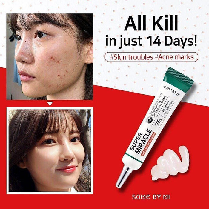 Kem trị mụn Some By Mi AHA/BHA/PHA 14 Days Super Miracle Spot All Kill Cream 30ml