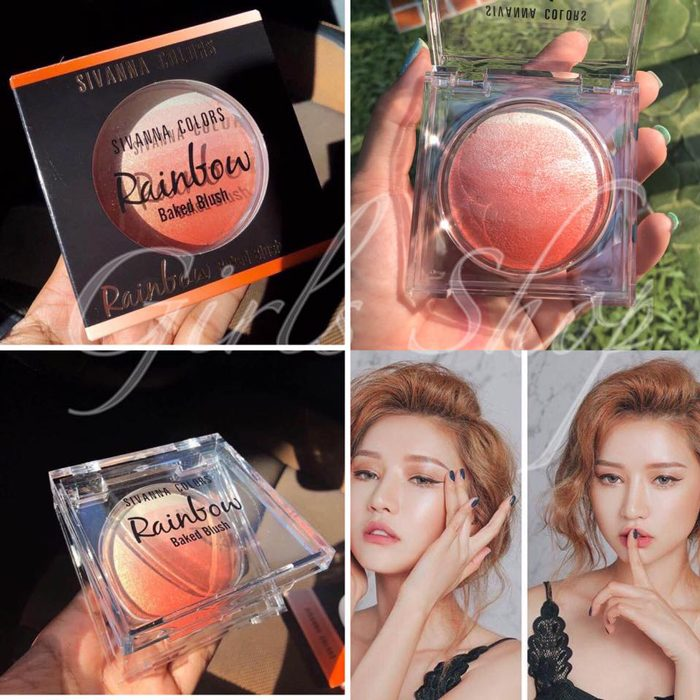 Phấn mắt má Sivanna Colors Rainbow Baked Blush