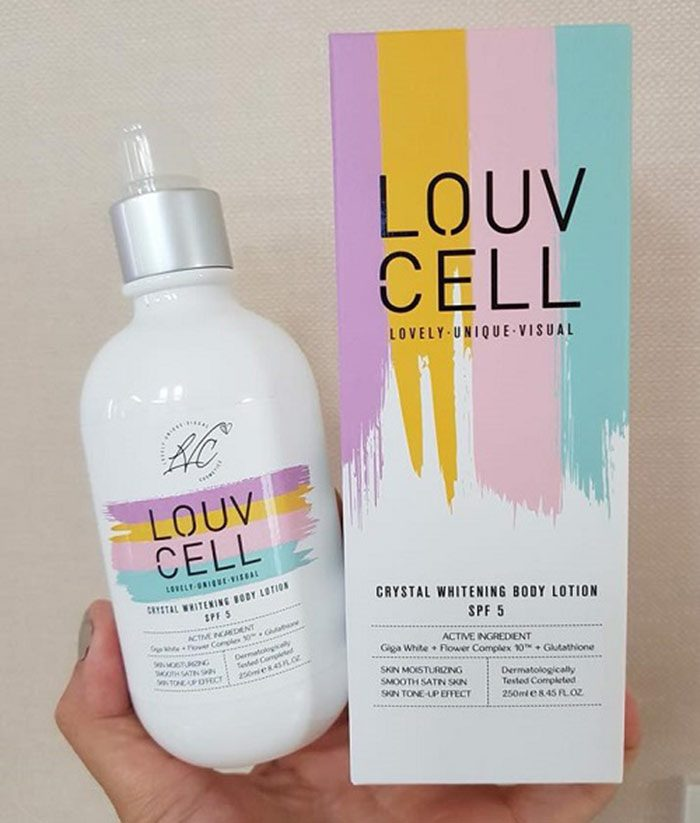 Sữa dưỡng Louv Cell Crystal Whitening Body Lotion SPF5